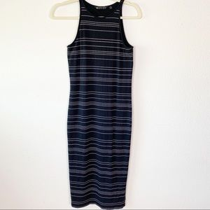 Athelta tank dress size XS Black/White striped.